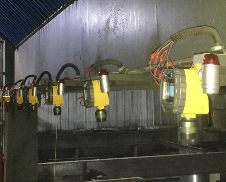 防爆可燃气体探测器安装实景图